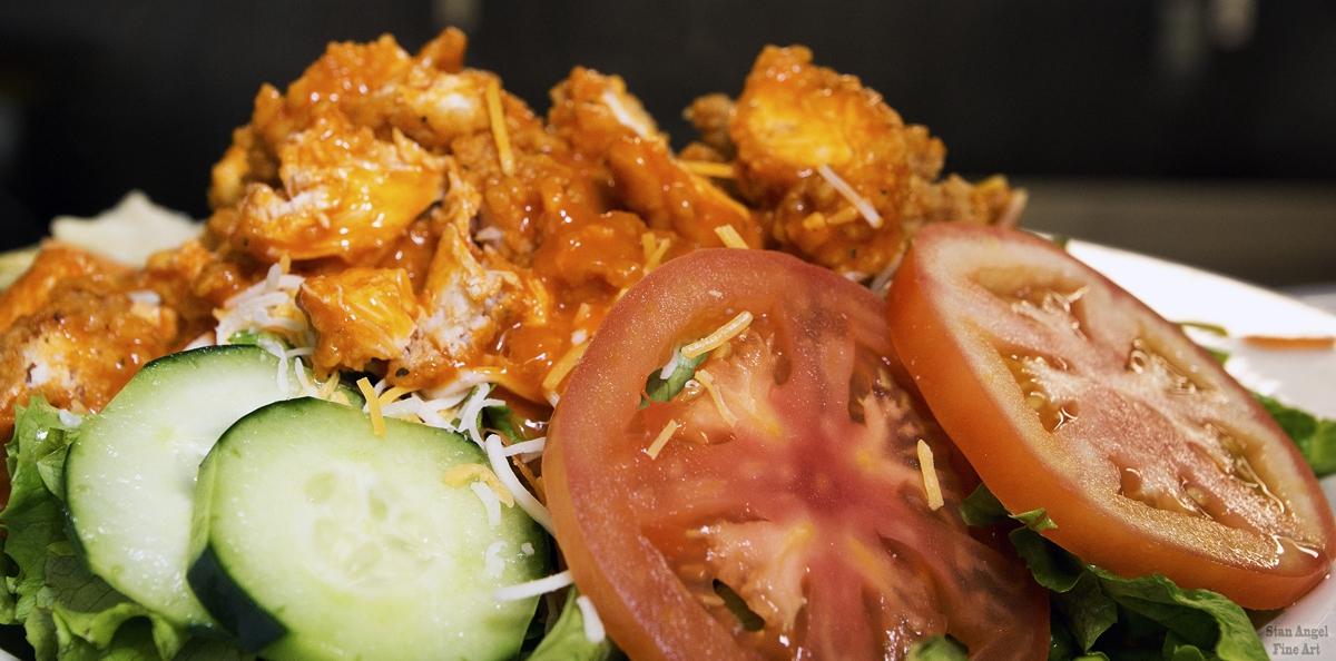 Crispy Chicken Salad with Buffallo Sauce